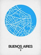 Buenos Aires Street Map Blue