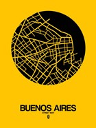 Buenos Aires Street Map Yellow