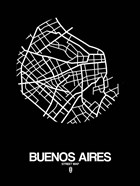 Buenos Aires Street Map Black