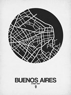 Buenos Aires Street Map Black on White
