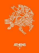 Athens Street Map Orange