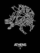 Athens Street Map Black