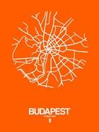 Budapest Street Map Orange