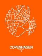 Copenhagen Street Map Orange