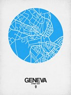 Geneva Street Map Blue