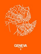 Geneva Street Map Orange