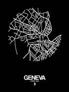 Geneva Street Map Black