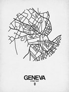 Geneva Street Map White
