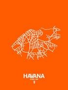 Havana Street Map Orange