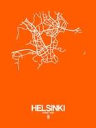 Helsinki Street Map Orange