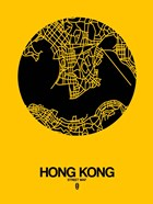 Hong Kong Street Map Yellow