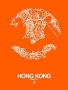 Hong Kong Street Map Orange