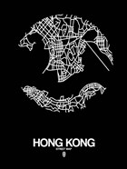 Hong Kong Street Map Black