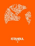 Istanbul Street Map Orange