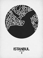 Istanbul Street Map Black on White