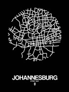 Johannesburg Street Map Black