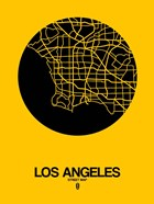 Los Angeles Street Map Yellow