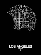 Los Angeles Street Map Black