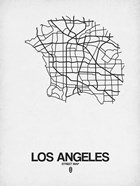 Los Angeles Street Map White
