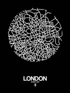 London Street Map Black