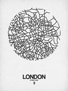London Street Map White
