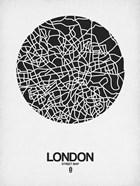 London Street Map Black on White