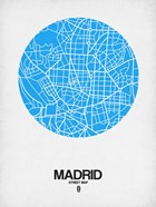 Madrid Street Map Blue