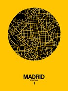 Madrid Street Map Yellow