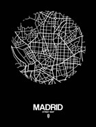 Madrid Street Map Black