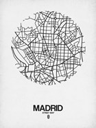 Madrid Street Map White
