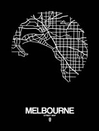 Melbourne Street Map Black