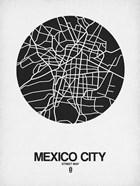 Mexico City Street Map Black on White