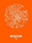 Moscow Street Map Orange