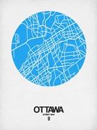 Ottawa Street Map Blue