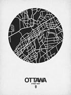 Ottawa Street Map Black on White