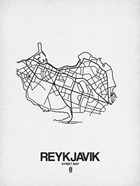Reykjavik Street Map White