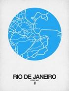 Rio de Janeiro Street Map Blue