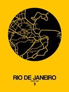Rio de Janeiro Street Map Yellow