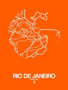 Rio de Janeiro Street Map Orange