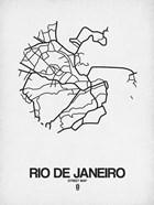 Rio de Janeiro Street Map White