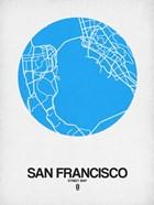 San Francisco Street Map Blue