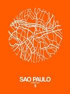 Sao Paulo Street Map Orange