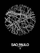 Sao Paulo Street Map Black