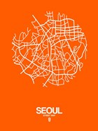 Seoul Street Map Orange