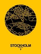 Stockholm Street Map Yellow