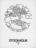 Stockholm Street Map White
