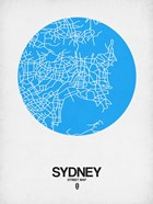 Sydney Street Map Blue