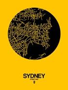 Sydney Street Map Yellow