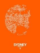 Sydney Street Map Orange
