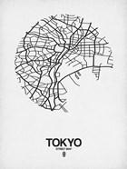 Tokyo Street Map White